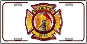 Firefighters Wife Wholesale Metal Novelty License Plate LP-2359