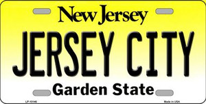Jersey City New Jersey Background Wholesale Metal Novelty License Plate