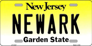 Newark New Jersey Background Wholesale Metal Novelty License Plate