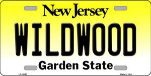 Wildwood New Jersey Background Wholesale Metal Novelty License Plate