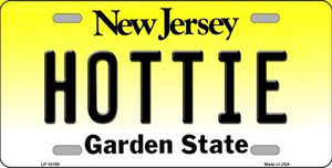 Hottie New Jersey Background Wholesale Metal Novelty License Plate