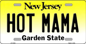 Hot Mama New Jersey Background Wholesale Metal Novelty License Plate