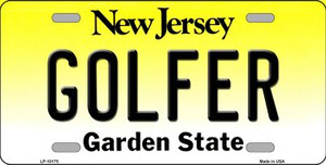 Golfer New Jersey Background Wholesale Metal Novelty License Plate