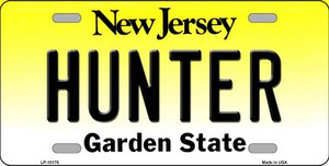 Hunter New Jersey Background Wholesale Metal Novelty License Plate