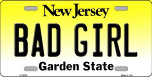 Bad Girl New Jersey Background Wholesale Metal Novelty License Plate