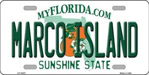 Marco Island Florida Background Wholesale Metal Novelty License Plate
