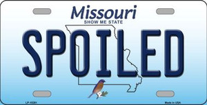 Spoiled Missouri Background Wholesale Metal Novelty License Plate