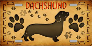 Dachshund Novelty Wholesale Metal License Plate