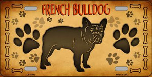 French Bulldog Novelty Wholesale Metal License Plate