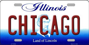 Chicago Illinois Background Wholesale Metal Novelty License Plate