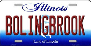 Bolingbrook Illinois Background Wholesale Metal Novelty License Plate