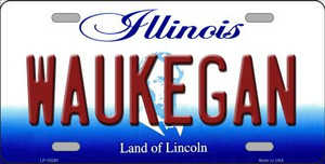 Waukegan Illinois Background Wholesale Metal Novelty License Plate