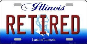 Retired Illinois Background Wholesale Metal Novelty License Plate