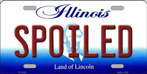 Spoiled Illinois Background Wholesale Metal Novelty License Plate