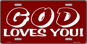God Loves You Wholesale Metal Novelty License Plate LP-238