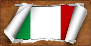 Italy Flag Scroll Wholesale Metal Novelty License Plate