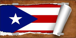 Puerto Rico Flag Scroll Wholesale Metal Novelty License Plate