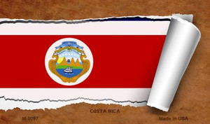 Costa Rica Flag Scroll Wholesale Novelty Metal Magnet