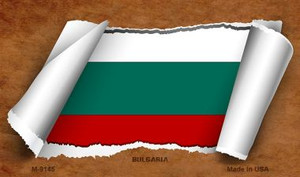 Bulgaria Flag Scroll Wholesale Novelty Metal Magnet