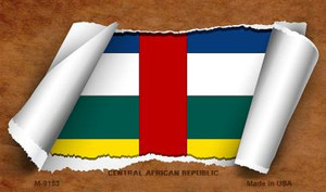 Central African Rep Flag Scroll Wholesale Novelty Metal Magnet