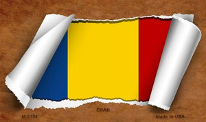 Chad Flag Scroll Wholesale Novelty Metal Magnet