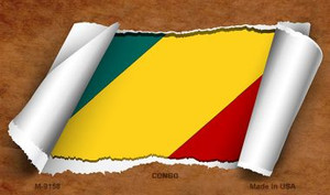 Congo Flag Scroll Wholesale Novelty Metal Magnet