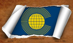 Commonwealth Flag Scroll Wholesale Novelty Metal Magnet