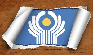 Commonwealth of Independent States Flag Scroll Wholesale Novelty Metal Magnet