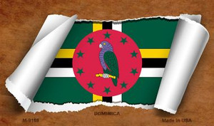 Dominica Flag Scroll Wholesale Novelty Metal Magnet
