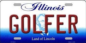 Golfer Illinois Background Wholesale Metal Novelty License Plate