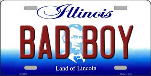 Bad Boy Illinois Background Wholesale Metal Novelty License Plate