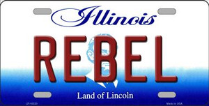 Rebel Illinois Background Wholesale Metal Novelty License Plate