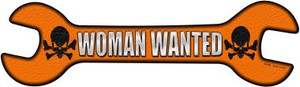 Woman Wanted Wholesale Novelty Metal Wrench Sign