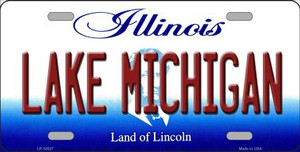 Lake Michigan Illinois Background Wholesale Metal Novelty License Plate