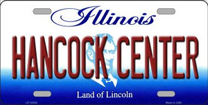 Hancock Center Illinois Background Wholesale Metal Novelty License Plate