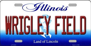 Wrigley Field Illinois Background Wholesale Metal Novelty License Plate
