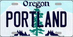 Portland Oregon Background Wholesale Metal Novelty License Plate