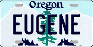 Eugene Oregon Background Wholesale Metal Novelty License Plate