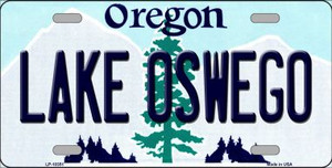 Lake Oswego Oregon Background Wholesale Metal Novelty License Plate