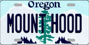Mount Hood Oregon Background Wholesale Metal Novelty License Plate