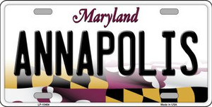 Annapolis Maryland Background Wholesale Metal Novelty License Plate