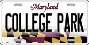 College Park Maryland Background Wholesale Metal Novelty License Plate