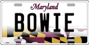 Bowie Maryland Background Wholesale Metal Novelty License Plate