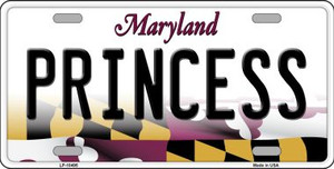Princess Maryland Background Wholesale Metal Novelty License Plate