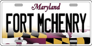 Fort McHenry Maryland Background Wholesale Metal Novelty License Plate
