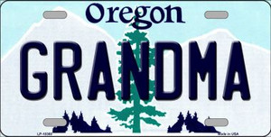 Grandma Oregon Background Wholesale Metal Novelty License Plate
