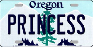 Princess Oregon Background Wholesale Metal Novelty License Plate