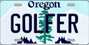 Golfer Oregon Background Wholesale Metal Novelty License Plate