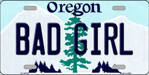 Bad Girl Oregon Background Wholesale Metal Novelty License Plate