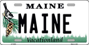 Maine Background Wholesale Metal Novelty License Plate